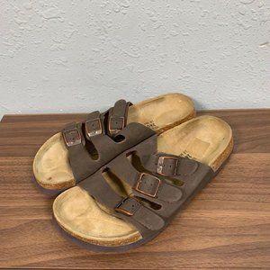 Betula Birkenstock Brown Strap Footbed Sandals